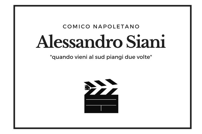 【シアーニ】コメディアン、俳優、映画監督と幅広く活躍する ナポリで一番勢いのある男! -Alessandro Siani-